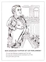 Caricature, SIR CHARLES TUPPER ET LE PARLEMENT