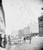 Photo : Rue Front, Toronto, vers 1876.