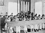 Study time at Native residential school, (Fort) Resolution, N.W.T.