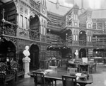 Photograph of the interior of the Library of Parliament 1898