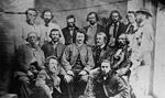 Photograph of councillors of the provisional government of the Métis Nation, Manitoba, 1870