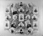 Group of small photographs of deputy heads of departments, 1892