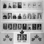 Group of small photographs of the governors general of Canada and their wives, 1867-1927