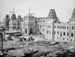 Photograph of Parliament Buildings under construction, August or September 1863