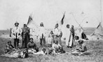 Photograph of members of the Blackfoot Nation, Calgary, Alberta