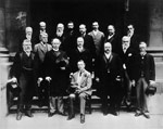 Photograph of the colonial premiers, including Sir Wilfrid Laurier