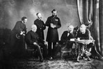 Photograph of a meeting of the defence commissioners, 1862