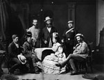 Photograph of Sandford Fleming with members an ocean to ocean expedition through Canada in 1872