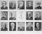 Group of small photographs of the prime ministers of Canada, 1867-1963