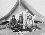 Photograph of members of the Cree Nation at Prince Albert, 1885
