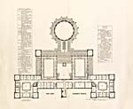 Floor plans of the Centre Block of Parliament, identifying the offices of administrators, senators and members of Parliament, 1867