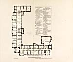 Floor plans of Parliament's East Block, identifying the offices of administrators, senators and members of Parliament, 1867