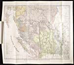 Carte intitulée MAP SHOWING THE DISTRIBUTION OF THE INDIAN TRIBES OF BRITISH COLUMBIA, publiée en 1884