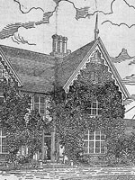Drawing of Earnscliffe, one of Sir�John�A.�Macdonald's residences in Ottawa, by an unknown artist, n.d.