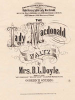 "Sheet music of song ""The Lady Macdonald Waltz,"" by Mrs. B.L. Doyle"