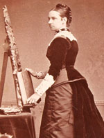 Photograph of Agnes Macdonald on a card with her signature, November 15, 1879
