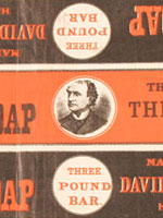 Advertisement for N.P. Soap, manufactured by David Morton & Sons, that includes the image of Sir�John�A.�Macdonald
