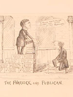 "Political cartoons ""The Pharisee and Publican"" and ""Stop Thief!!"" featuring Sir John A. Macdonald, by John Bengough"