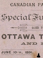 Sir�John�A.�Macdonald's funeral train ticket issued to S.R. Hesson (front), June�10,�1891