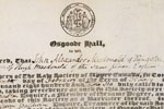 John A. Macdonald's diploma, Barrister at Law, Osgoode Hall Law School, 1836
