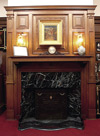 Reception room - North wall, fireplace