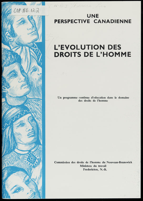 Cover of a book by Léo Ferrari entitled L'ÉVOLUTION DES DROITS DE L'HOMME : UNE PERSPECTIVE CANADIENNE, 1971
