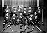 Photograph of the St. Patrick's hockey team, 1949