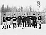 Photograph of the New Hazelton hockey team, Hazelton, British Columbia, 1913