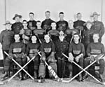 Photograph of a Royal Canadian Mounted Police (RCMP) hockey team, date unknown