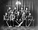 Photograph of the Asahi Athletic Club hockey team, Vancouver, British Columbia, 1919-1920
