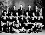 Photograph of the YMCA hockey team of Stratford, Ontario