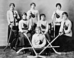 Photograph of the Queen's University hockey team, Kingston, Ontario, 1917