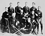 Photo de l'équipe de hockey des Victorias de Winnipeg, en 1894-1895