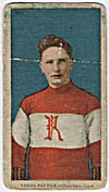 Photo d'une carte de hockey de Frank Patrick, vers 1910-1912