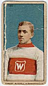 Photo d'une carte de hockey d'Ernest Russell, vers 1910-1912