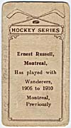 Photo d'une carte de hockey d'Ernest Russell, vers 1910-191