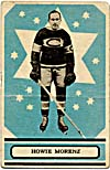 Front of hockey card with a photograph of Howie Morenz, 1933-1934