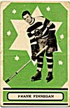 Front of hockey card with a photograph of Frank Finnegan, 1933-1934