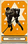 Front of hockey card with a photograph of Normie Himes, 1933-1934