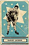Front of hockey card with a photograph of Harvey Jackson, 1933-1934