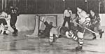 Photograph of Bill Barilko's final goal, 1951