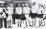 Photograph of Great Britain�s hockey team at the European Championships in Davos, Switzerland, 1926