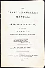 Page tirée du livre THE CANADIAN CURLER'S MANUAL, de James Bicket, 1840