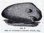 Engraving of Rev. W. Guthrie's Curling stone, 1645