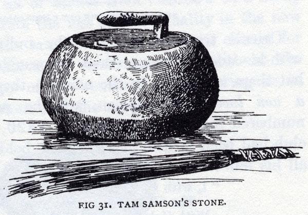 Engraving titled TAM SAMSON'S STONE