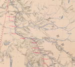 Map showing Mounted Police stations in the Yukon, 1900