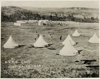 Photograph of Fort Walsh, Saskatchewan, 1878; NWMP Headquarters until 1882