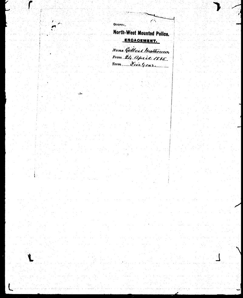 Digitized page of NWMP for Image No.: sf-01280.0009-v7