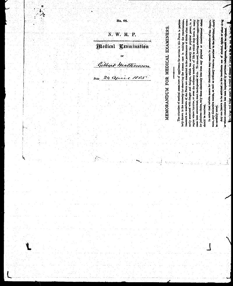 Digitized page of NWMP for Image No.: sf-01280.0012-v7