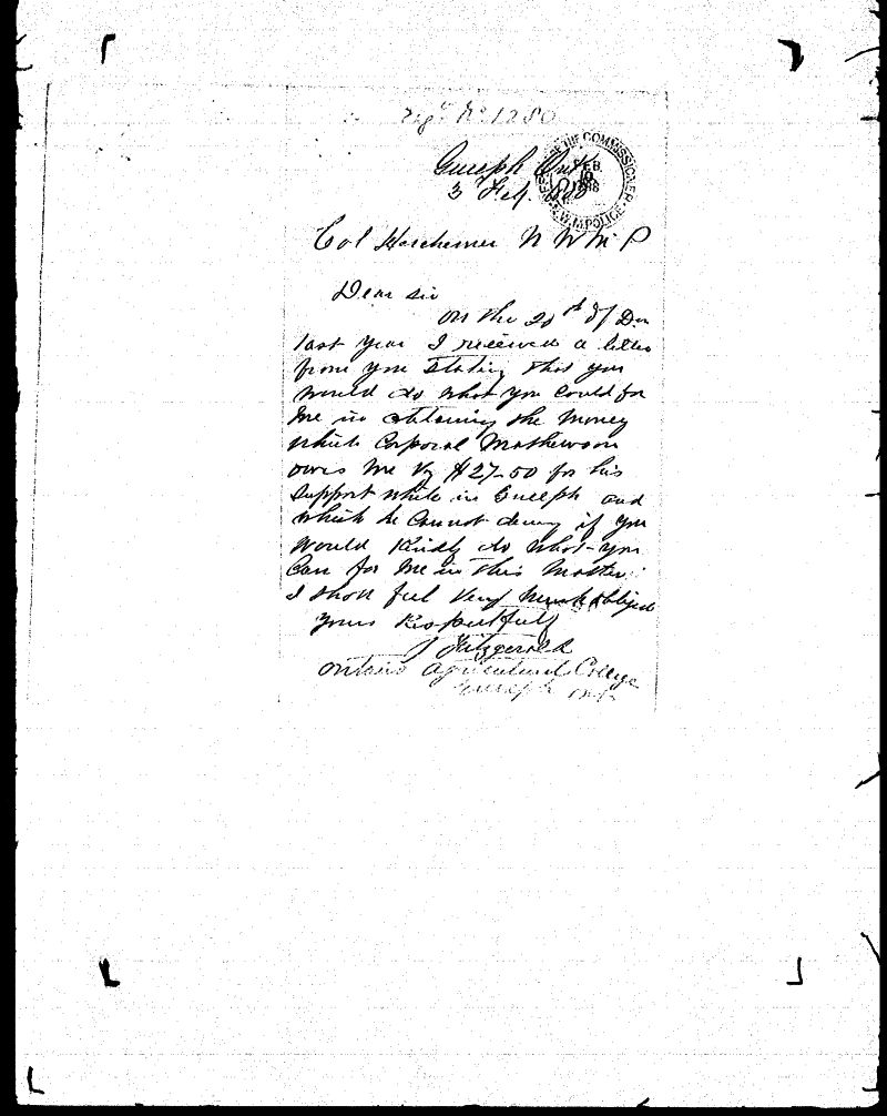Digitized page of NWMP for Image No.: sf-01280.0017-v7
